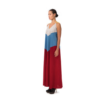 將圖像加載到畫廊查看器中Marios Patchwork Long Decollete Dress Multicolor