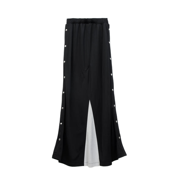 Marios Open Side Long Skirt Black - Concrete