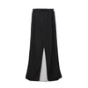 Marios Open Side Long Skirt Black