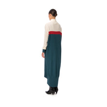 將圖像加載到畫廊查看器中Marios Multicolor Maxi J-Dress White / Red / Petrol Blue