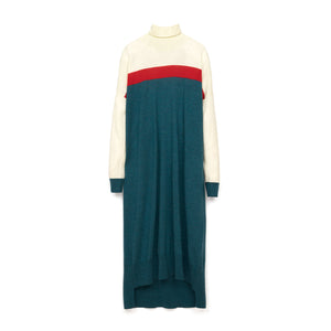 Marios Multicolor Maxi J-Dress White / Red / Petrol Blue