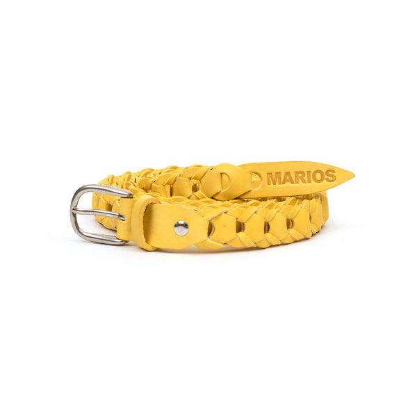 Marios Extra Long Braided Belt Yellow - Concrete