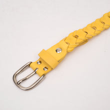 Load image into Gallery viewer, Marios Extra Long Braided Belt Yellow