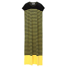 Afbeelding in Gallery-weergave laden, Marios W Striped Sleeveless Long Dress Black/Yellow - Concrete