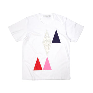 Marios Woman T-Shirt Transfer Print White - Concrete