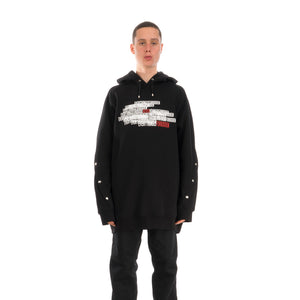 Marios Back Sweatshirt Fleece Black
