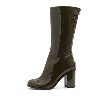 Marios W Mid-Calf Boots Olive Green - Concrete