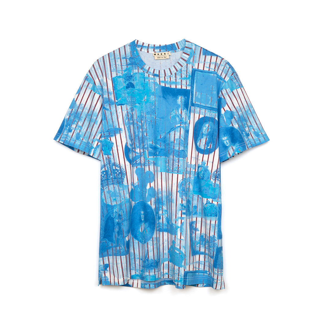 Marni T-Shirt Light Blue - HUMU0013S0