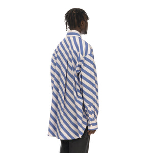 Marni | Shirt White / Blue Stripe - Concrete