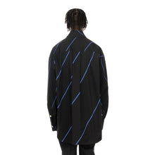 將圖像加載到畫廊查看器中Marni | Oversized Infinity Heart Shirt Black / Blue Stripe - Concrete
