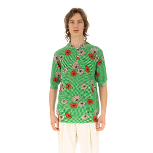 Marni | Polo Neck Green Flower Print