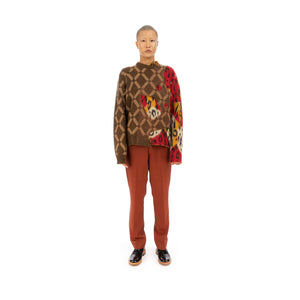 Marni | Roundneck Sweater Brown / Red - GCMG0085QX - Concrete