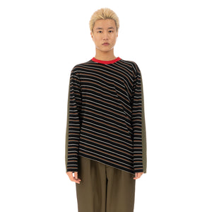 Marni | T-Shirt Black Stripe - HUMU0144A0 - Concrete