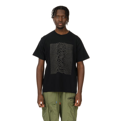 Medicom Toy | x Joy Division 'Unknown Pleasures' Reflective Print T-Shirt Black