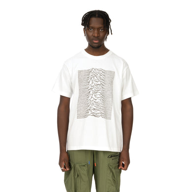 Medicom Toy | x Joy Division 'Unknown Pleasures' Reflective Print T-Shirt White