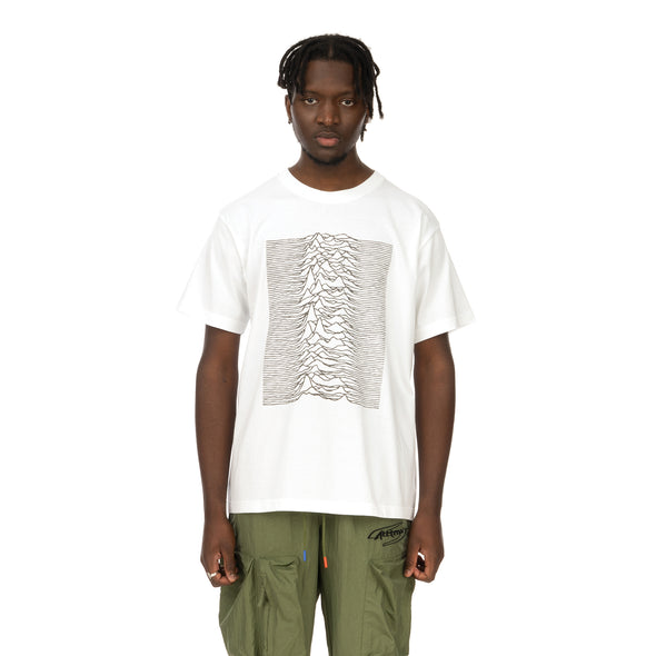 Medicom Toy | x Joy Division 'Unknown Pleasures' Reflective Print T-Shirt White - Concrete