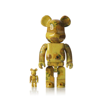 Medicom Toy | Be@rbrick 400% & 100% set x Van Gogh Museum Sunflowers - Concrete
