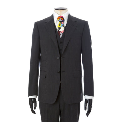 Mr. Bathing Ape Pin Stripe Classic British 3pcs Suit Black - Concrete
