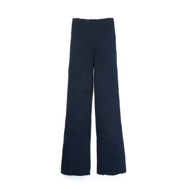 Museum of Friendship | Rib Knit Trousers Blue - Concrete