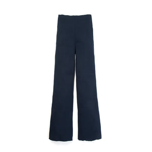 Museum of Friendship Rib Knit Trousers Blue - Concrete