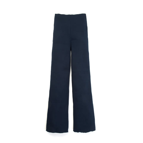 Museum of Friendship Rib Knit Trousers Blue