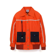 Load image into Gallery viewer, Museum of Friendship Short Oversized Waterproof Jacket Orange