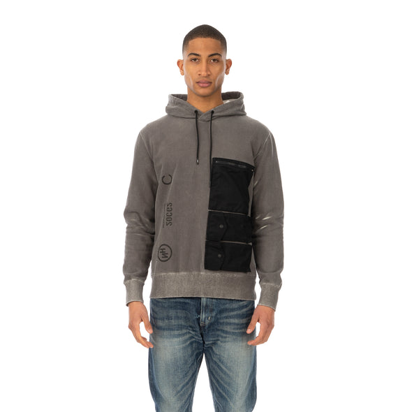 NEIGHBORHOOD | Thermo / C-Hooded LS Black / White