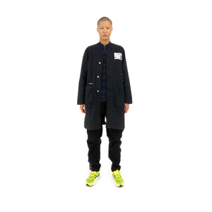 NEIGHBORHOOD | NC . MIL-DUSTER / C-COAT Woven Coat Black - Concrete