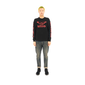 NEIGHBORHOOD NO MERCY-1 / C-Tee .LS Black / Red