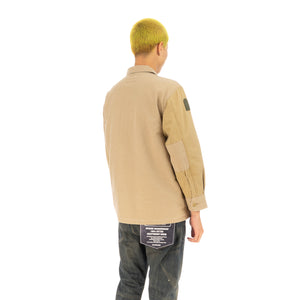 NEIGHBORHOOD | QM / C-Shirt. LS Khaki - Concrete