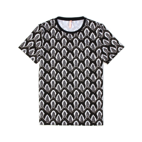 NO KA'OI Print 'Maua Top Leaf Black/White - Concrete