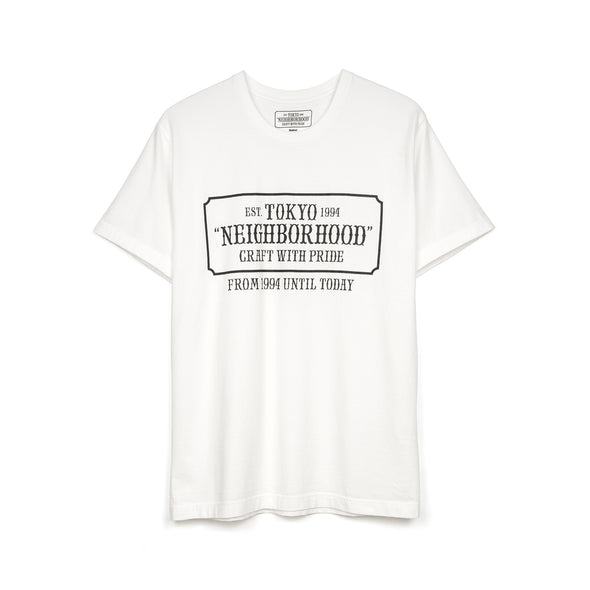 NEIGHBORHOOD | 'Bar & Shields' / C-TEE. SS White - Concrete