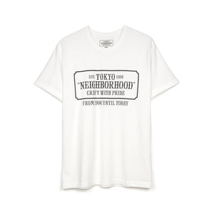 NEIGHBORHOOD 'Bar & Shields' / C-TEE. SS White
