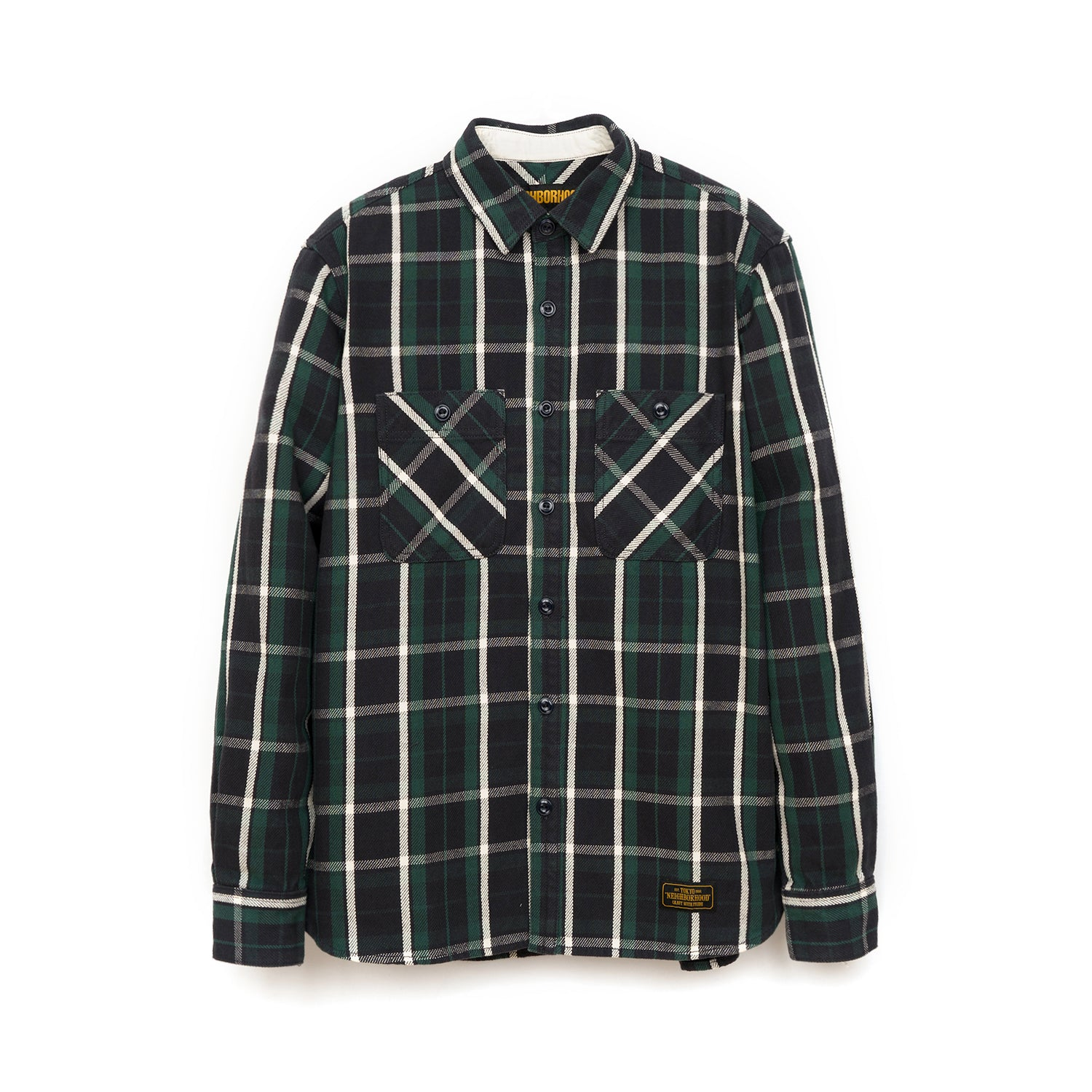NEIGHBORHOOD 'Lumbers' C-Shirt L/S Green