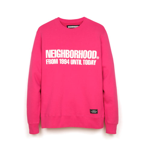 NEIGHBORHOOD Classic-S / C-Crew. LS Pink