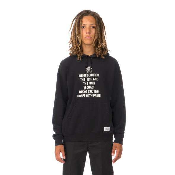 NEIGHBORHOOD | Tight / C-Hooded .LS Black - Concrete