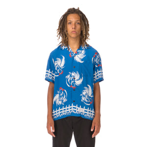 NEIGHBORHOOD | Aloha. Rooster / R-Shirt Blue - Concrete