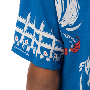 NEIGHBORHOOD | Aloha. Rooster / R-Shirt Blue