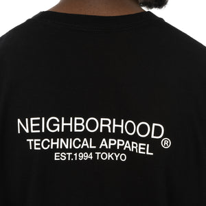 NEIGHBORHOOD | Distortion-1 / C-TEE LS. Black - Concrete