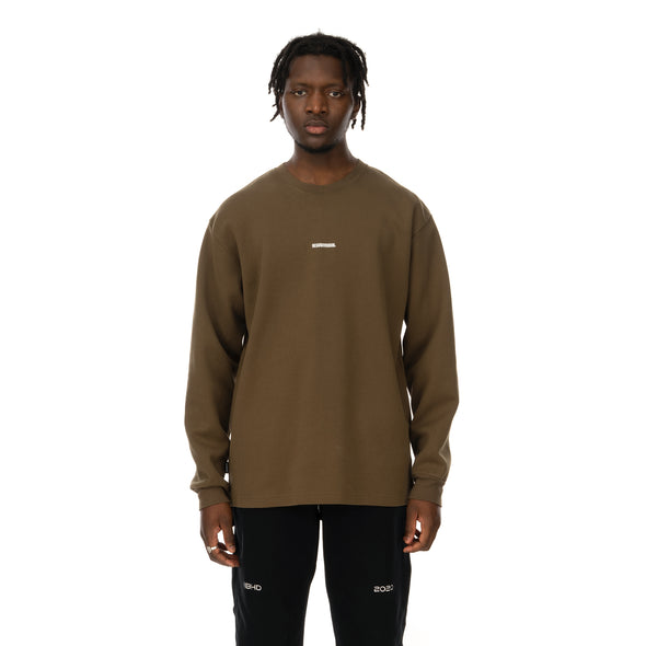 NEIGHBORHOOD | Mil-Base / C-Crew .LS Olive Drab - Concrete