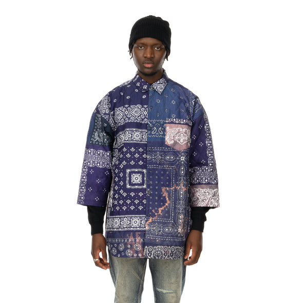 NEIGHBORHOOD | Quilt-B / E-Shirt .3Q Navy - Concrete