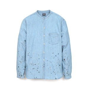 NEIGHBORHOOD 'Old Joe' . Chambray / C-Shirt LS Indigo