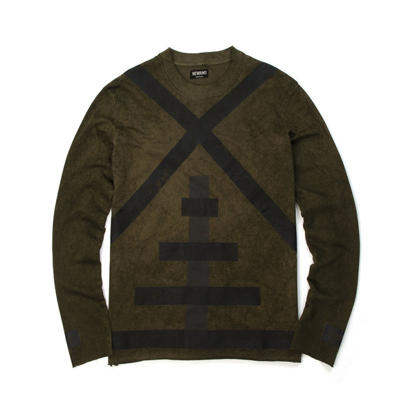 NEWAMS Mill Acid Sweater Green - Concrete