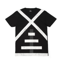 將圖像加載到畫廊查看器中NEWAMS Mill White On Black T-Shirt Black