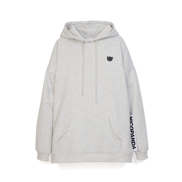 NicoPanda NP Hoodie Heather Grey - Concrete