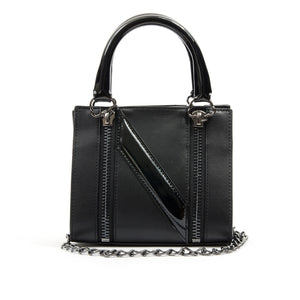 NicoPanda Tank Mini Handbag Black - Concrete