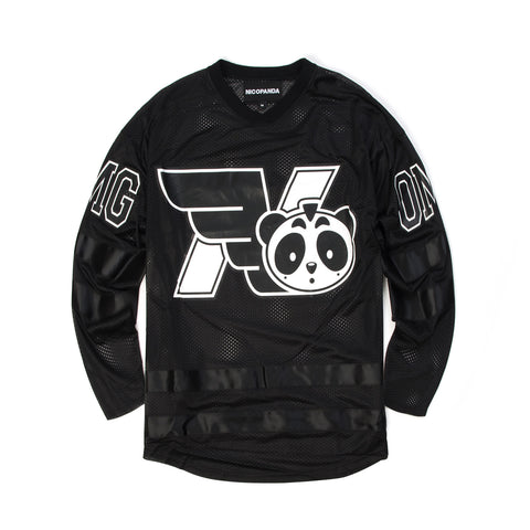 NicoPanda Knitted Omg Team Jersey Tee Black