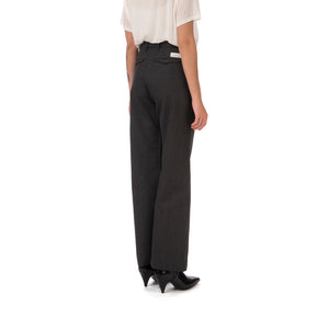 nine:inthe:morning W 'Deep' Palazzo Pants Dark Grey - Concrete