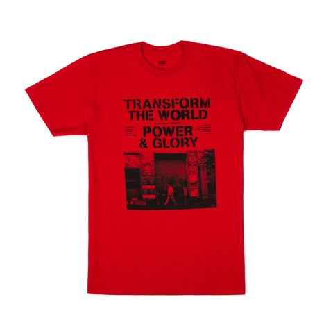 OBEY Power & Glory Stencil T-Shirt Red - Concrete