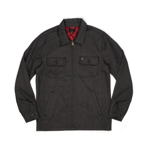Obey Sinclair Jacket Charcoal Multi - Concrete